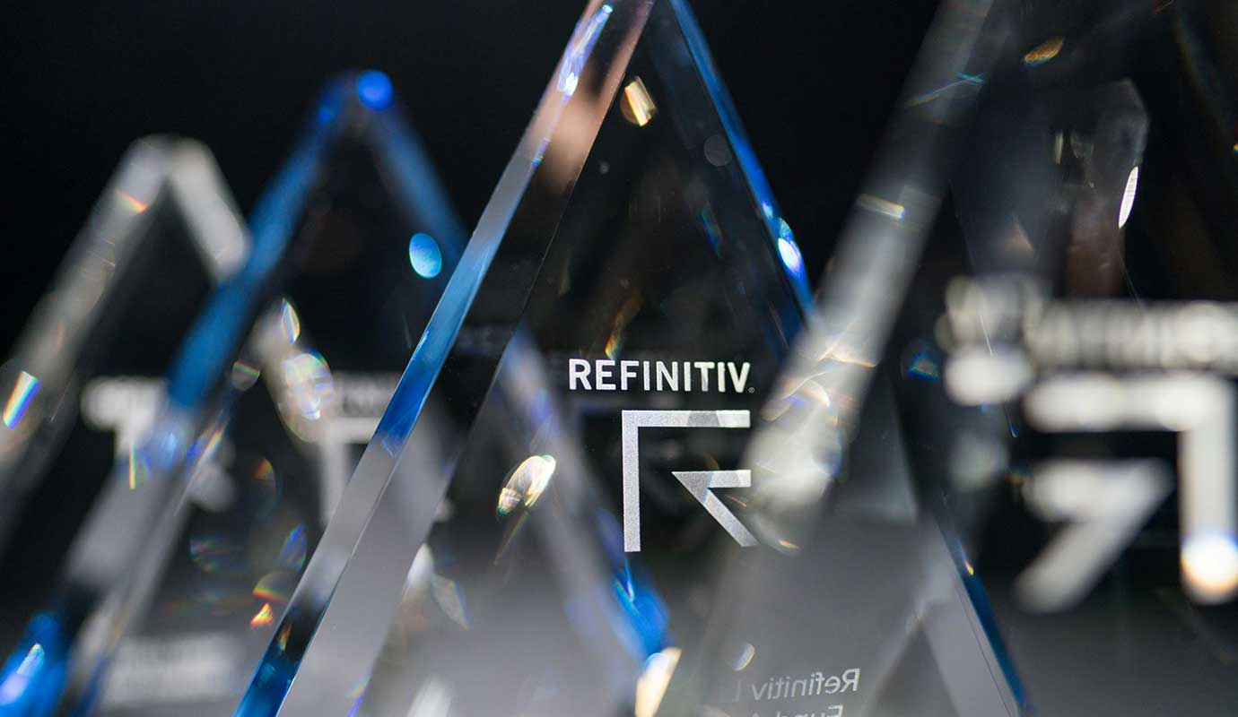 Refinitiv Lipper Fund Awards trophies