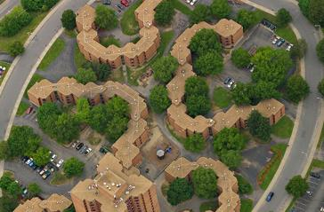 housing complex from above