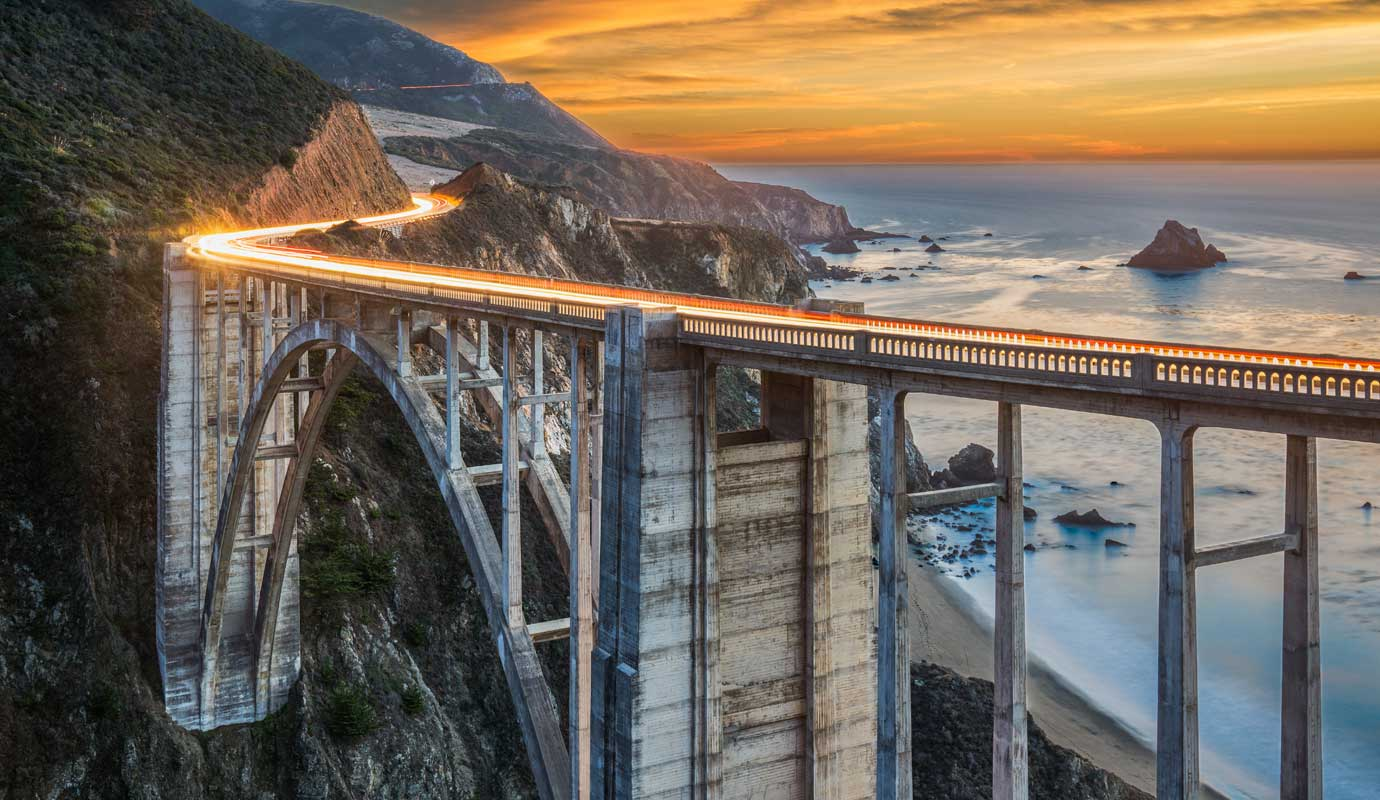 Highway one costal bridge