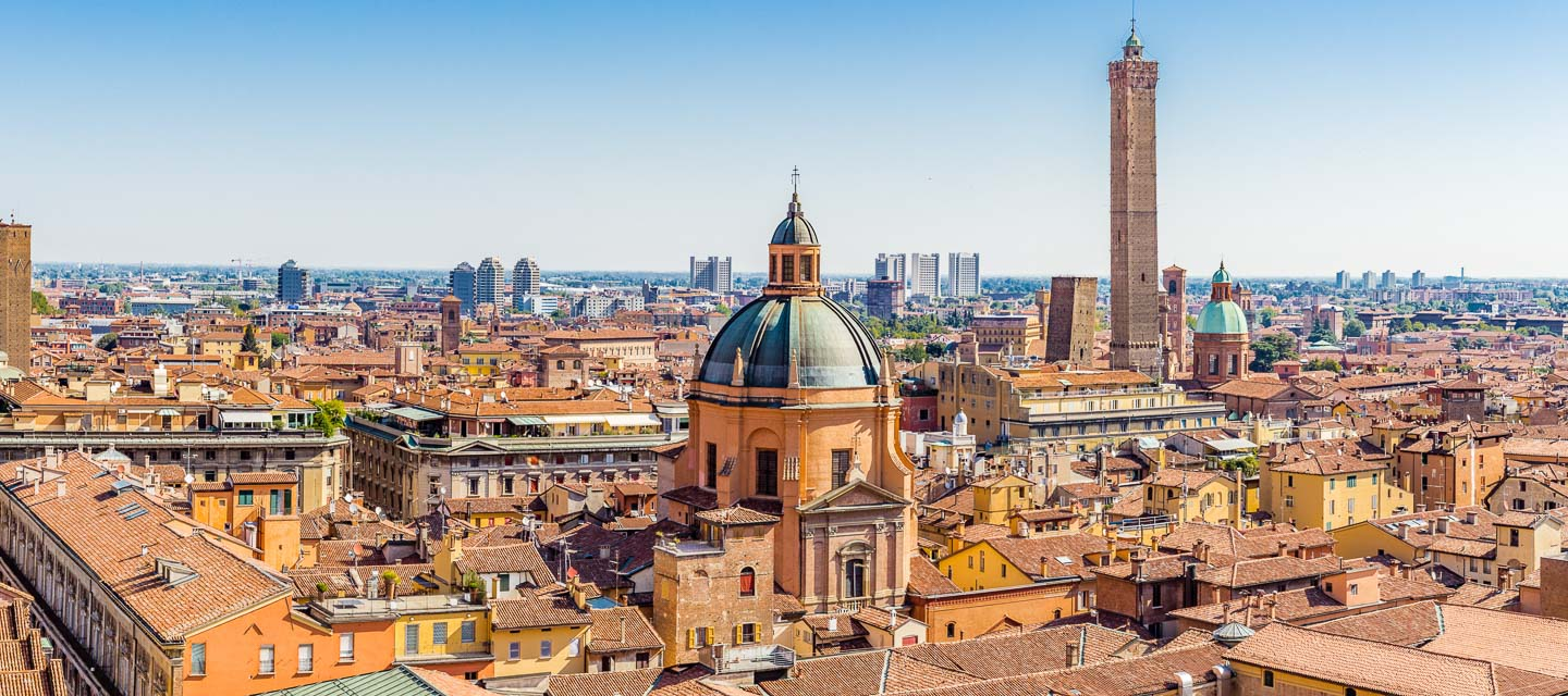 Bologna city skyline