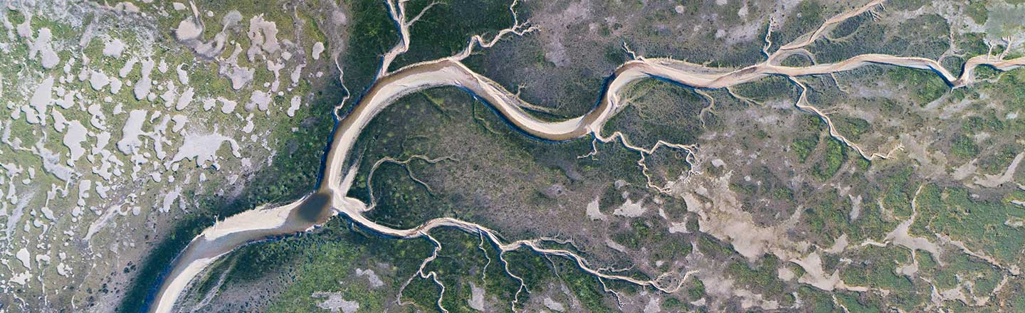 Aerial view of rivers
