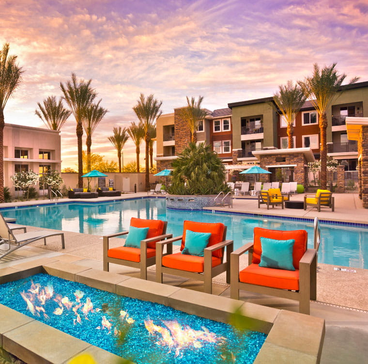 External image of poolside at housing asset in the U.S.
