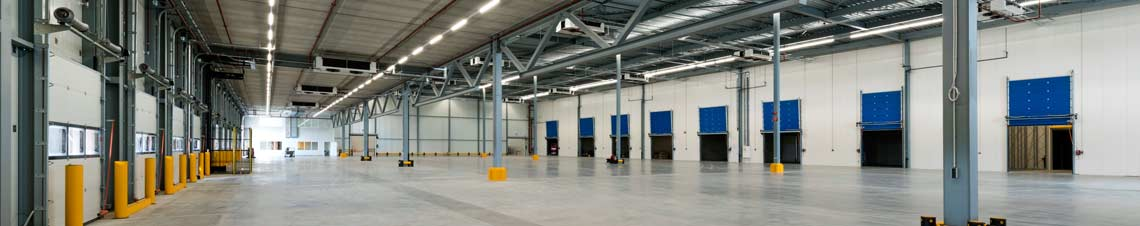 Image of the inside of a warehouse facility