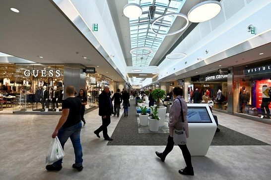 Shoppers in Silesia outlet centre