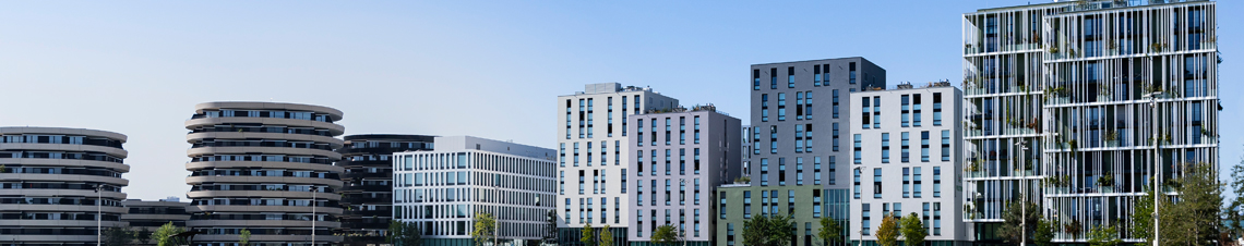 Exterior shot of Vienna student housing complex