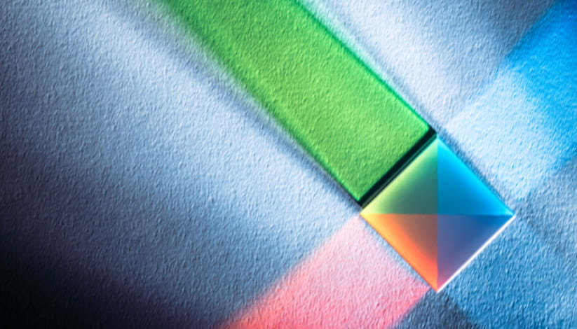 A square prism refracts light