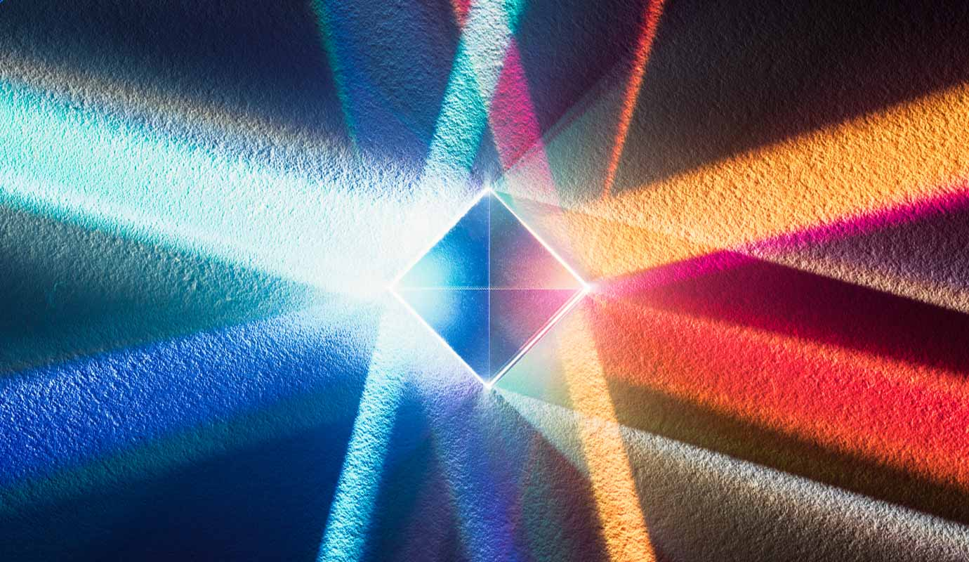 A cubic prism refracts light