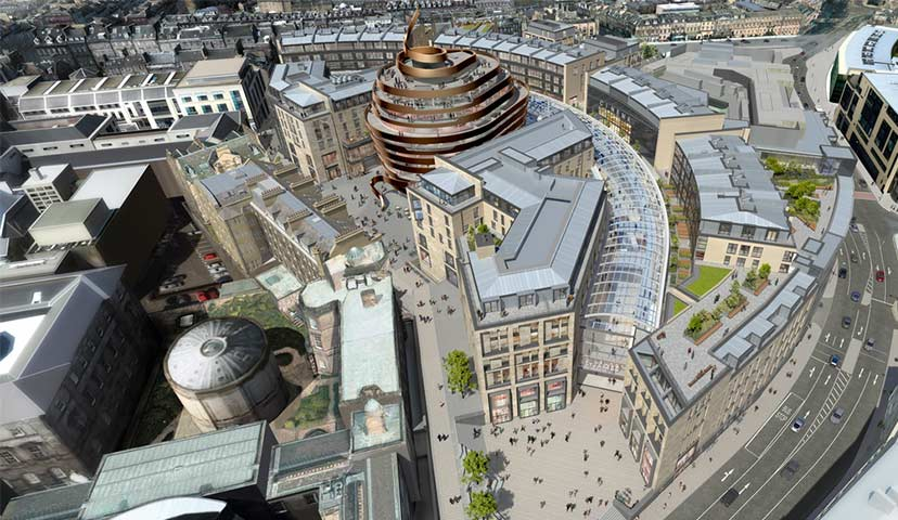Edinburgh St James - aerial