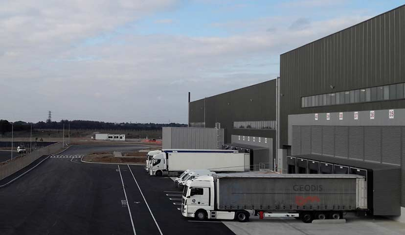 Logistics centre in Fos-sur-Mer harbour, France