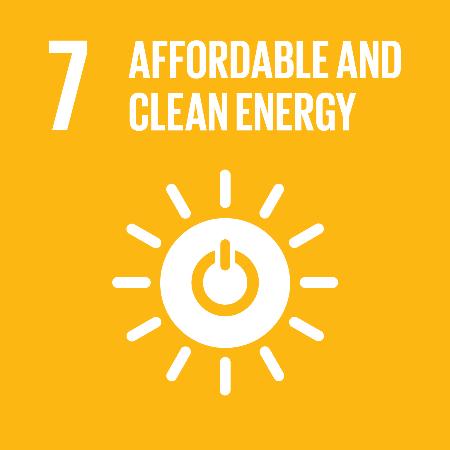 U.N. SDG goal 7, affordable and clean energy