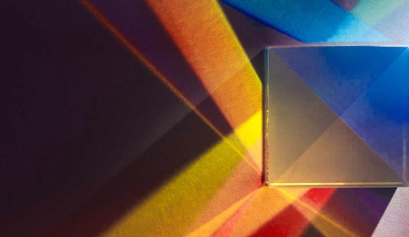 Prism showing light angled