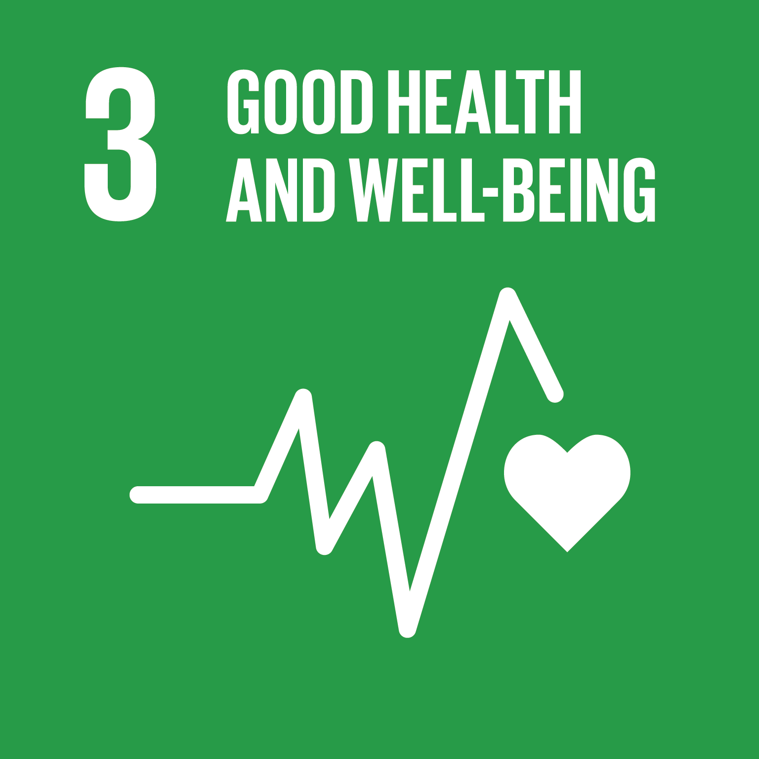 U.N. SDG goal 3, good health and well-being