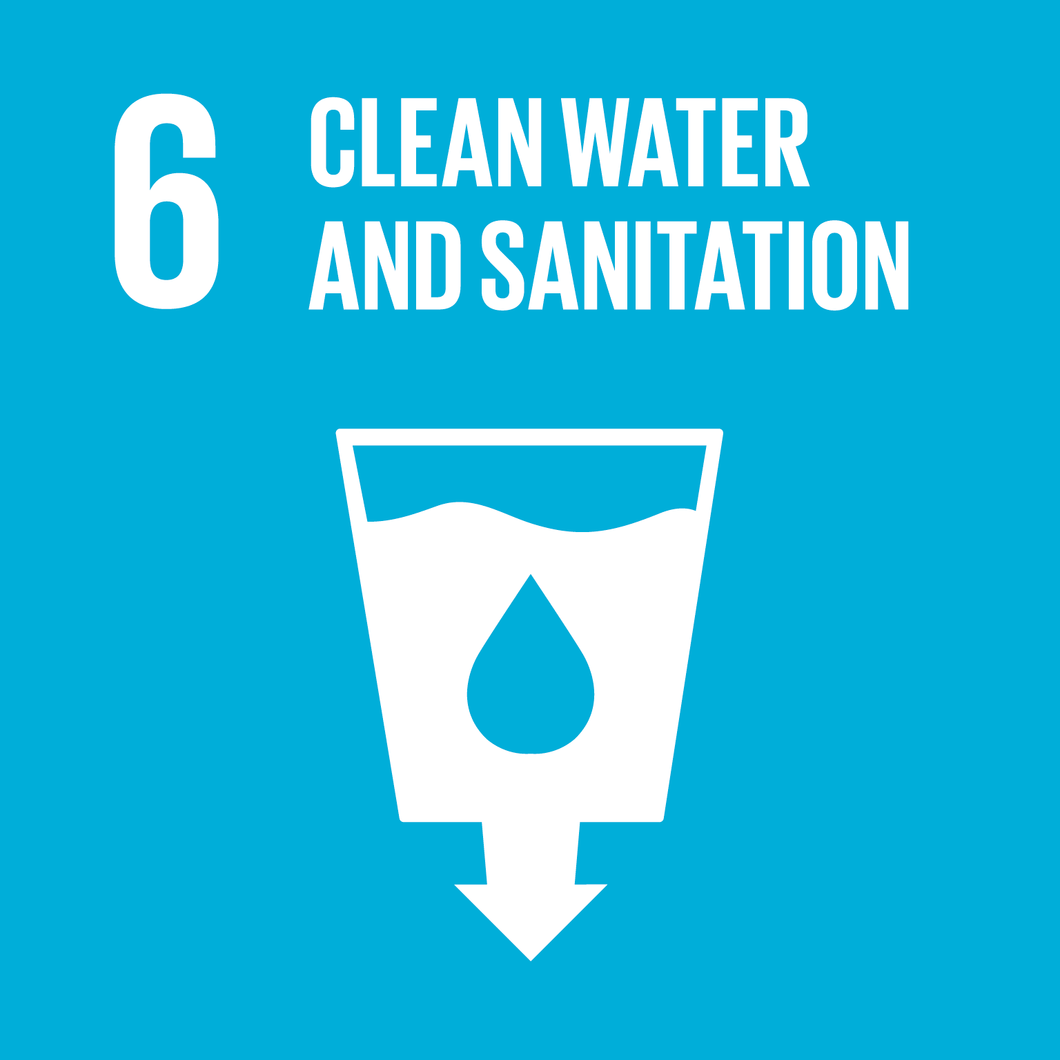 U.N. SDG goal 6, clean water and sanitation