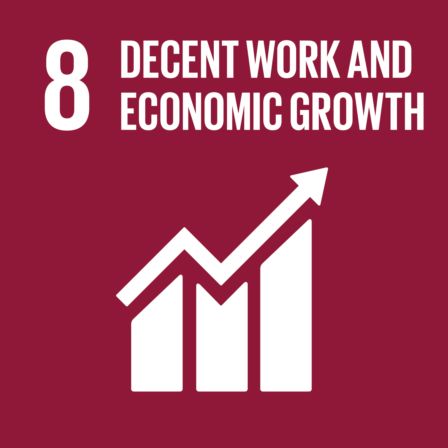 U.N. SDG goal 8, decent work and economic growth
