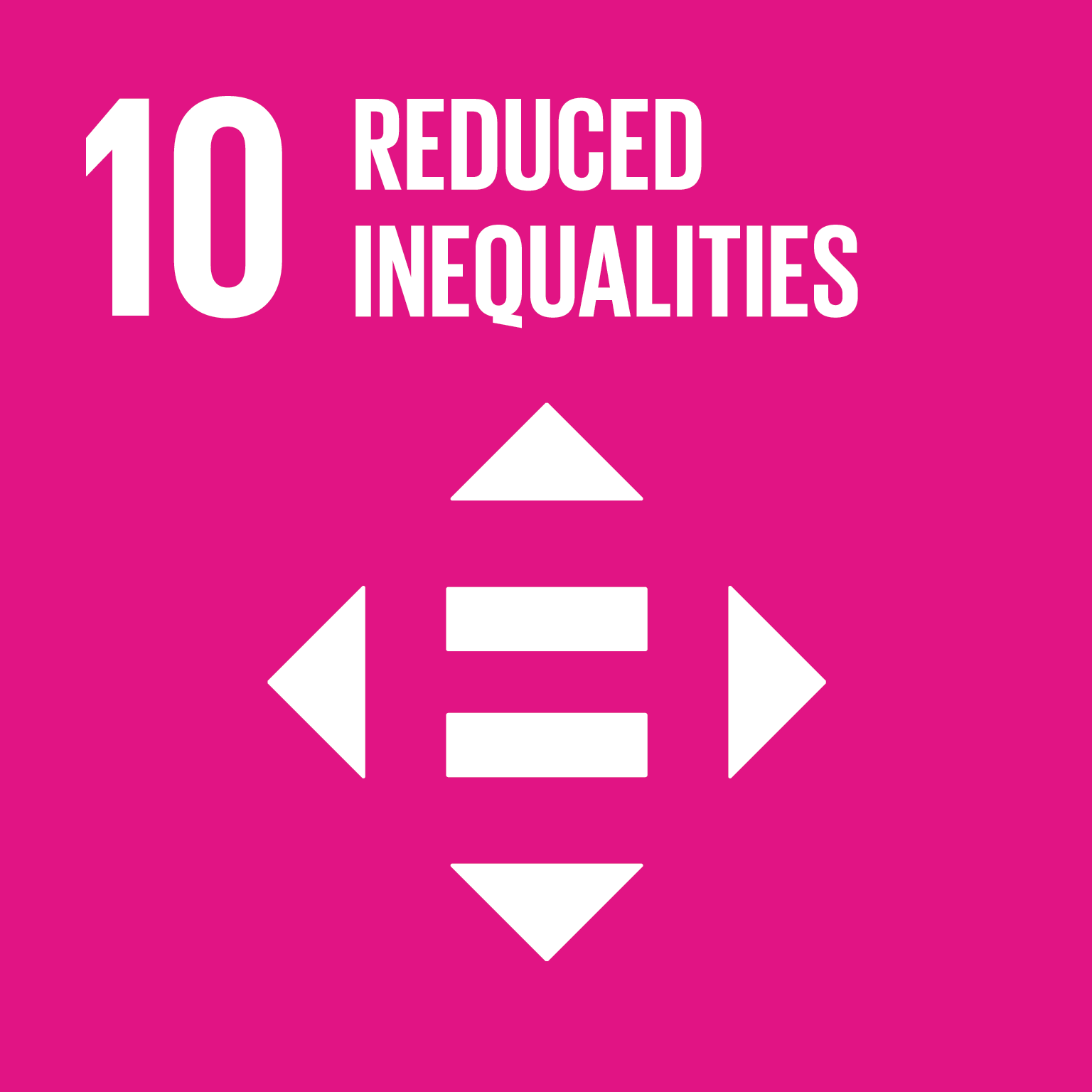 U.N. SDG goal 10, reduced inequalities